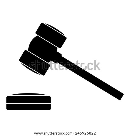 Gavel Icon Stock Photos, Images, & Pictures | Shutterstock