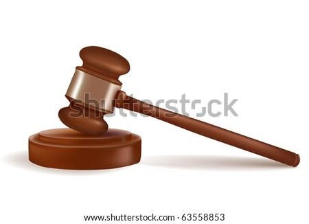 Judge gavel. Photo-realistic vector. - stock vector