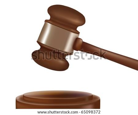 Judge gavel. Photo-realistic vector. - stock vector