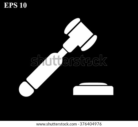judge or auction hammer Icon, judge or auction hammer Icon Vector, judge or auction hammer Icon JPG, judge or auction hammer Icon JPEG, judge or auction hammer Icon EPS, auction Icon design  - stock vector