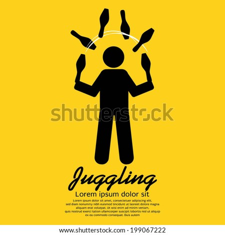 Juggling Graphic Sign Vector Illustration - stock vector