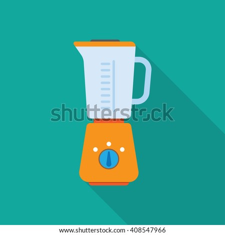 Juice kitchen blender machine easy to make drinks, kitchen blender healthy food mix. Kitchen blender shake cooking. Apparatus for cooking soup kitchen blender electric appliance equipment flat vector. - stock vector