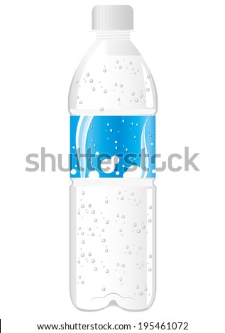 juice soda drink pet bottle Vector  - stock vector