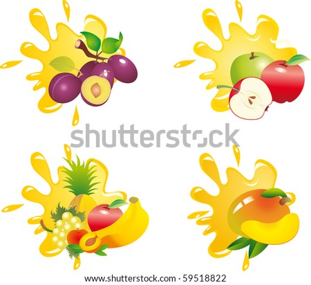 Juice splash vector - stock vector