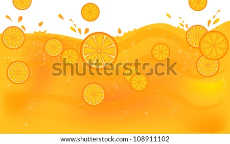 Juice with orange slices