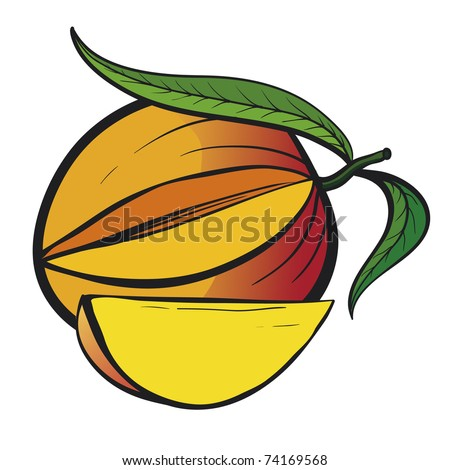 how to cut a yellow mango