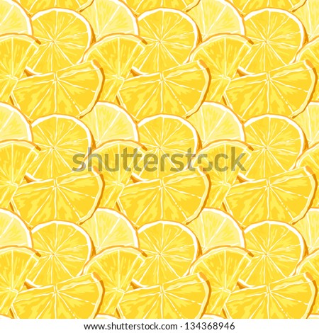 Juicy oranges seamless vector pattern