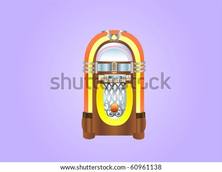 jukebox ( background on separate layer ) - stock vector