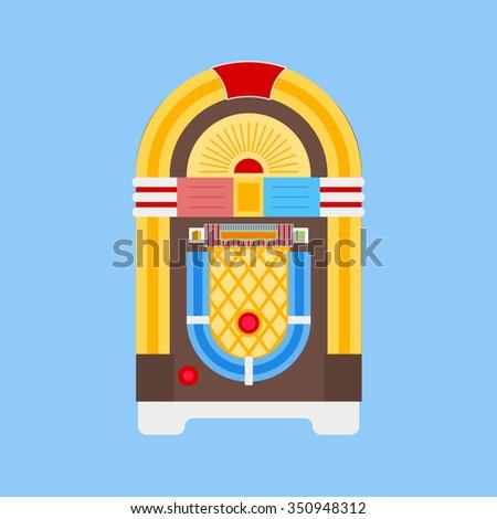 Jukebox Icon / Jukebox Icon Flat / Jukebox Icon Image / Jukebox Icon Object / Jukebox Icon Graphic / Jukebox Icon File / Jukebox Icon JPG / Jukebox Icon JPEG / Jukebox Icon EPS - stock vector