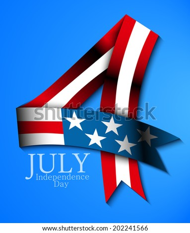 July 4 background - stock vector