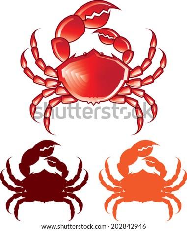 Jumbo Crab vector - stock vector