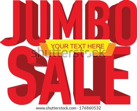 jumbo sale text with copy space, vector illustration - stock vector