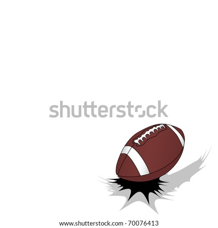 Jumping american football ball on white background with free space for your text (eps8) - stock vector