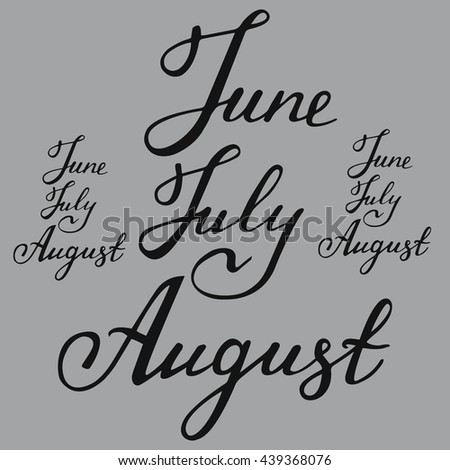 Hello August Vector Illustration Hand Written Stock Vector