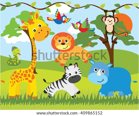 Jungle Animals Vector Stock Images, Royalty-Free Images & Vectors ...
