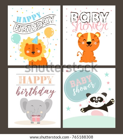 Jungle party invitation card stock vector hd royalty free jungle party invitation card stopboris Images