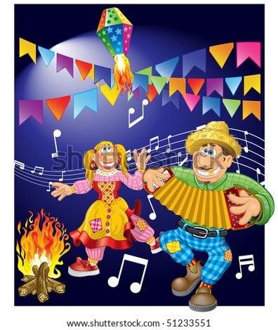 Junina Party Theme - stock vector