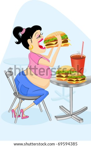junk food - stock vector