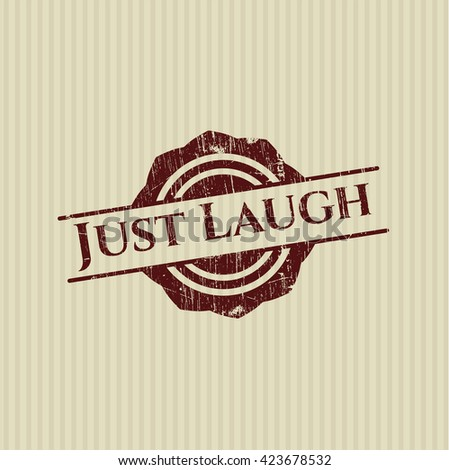 Just Laugh rubber stamp