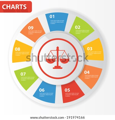 Justice info graphics,charts design,vector - stock vector