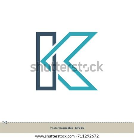 K letter logo template stock vector 711292672 shutterstock k letter logo template spiritdancerdesigns Images