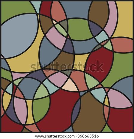kaleidoscope circle pattern background - stock vector