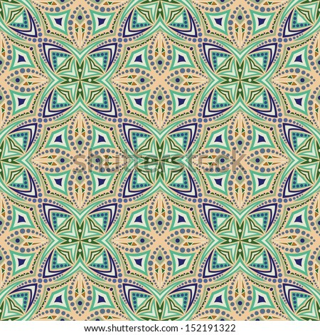 kaleidoscope, vector seamless pattern - stock vector