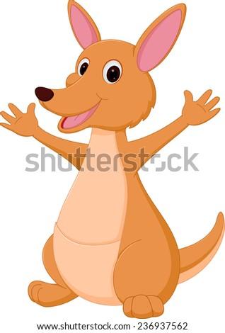 Kangaroo cartoon  - stock vector