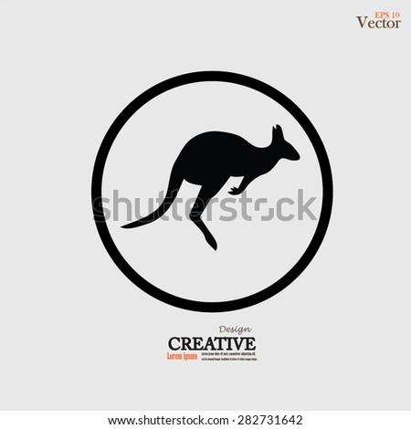 Kangaroo icon vector.kangaroo.vector illustration. - stock vector