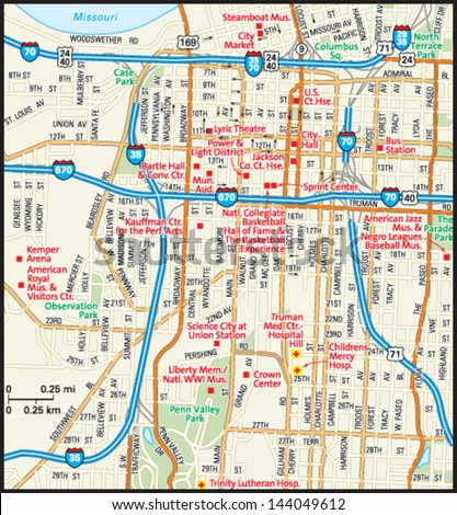 kansas city map stock images royalty free images vectors