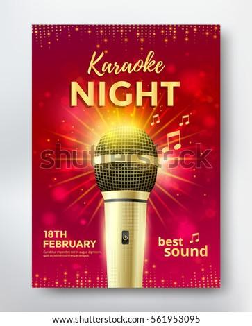 Karaoke Night Poster Template Design Golden Stock Vector ...   363 x 470 jpeg 49kB