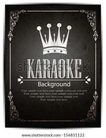 Karaoke vector background - stock vector
