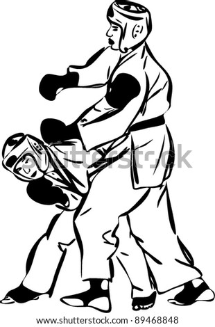 Karate Kyokushinkai sketch martial arts and combative sports