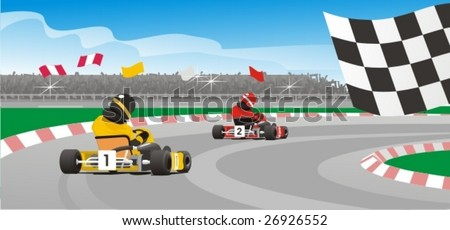 karting - stock vector