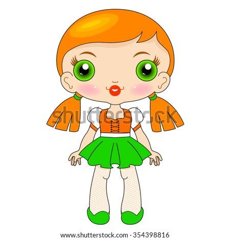 Kawaii doll_5 - stock vector