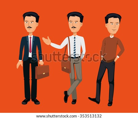 Kazakh man greeting, welcoming. Kazakh people. Young handsome, casual, business man. - stock vector