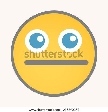 Keep Quiet - Cartoon Smiley Vector Face - stock vector