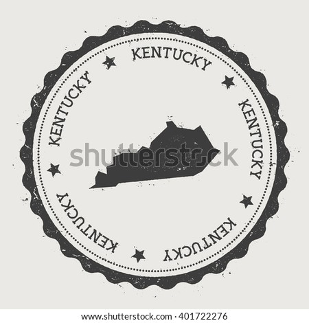 Vintage Label Map Kentucky Vector Stock Vector - Labeled us map vector