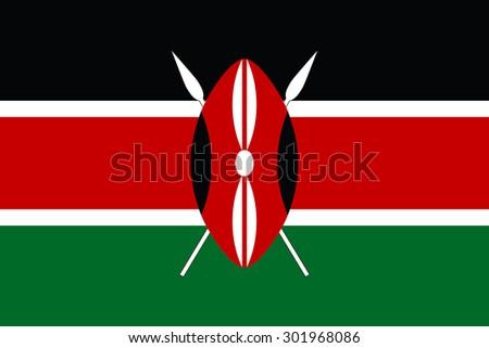 Kenya flag vector - stock vector