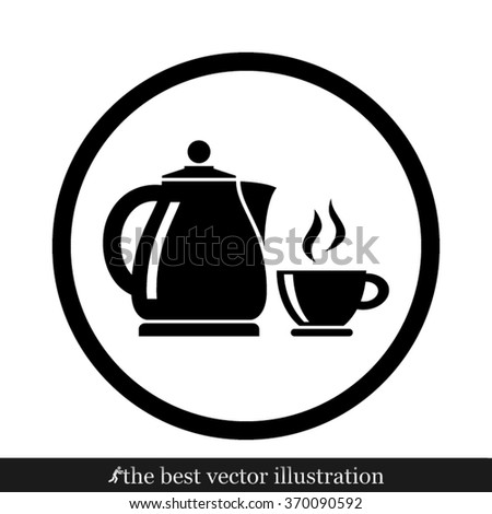 kettle cup - stock vector