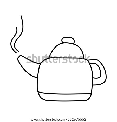 Kettle Outline Drawing Vector 382675552 on creating electrical drawings