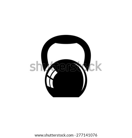 Kettlebell fitness sign icon - stock vector
