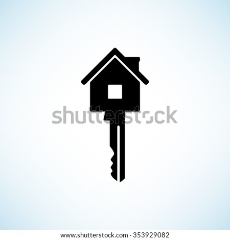 Key  - black vector icon