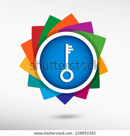 Key. Flat design style  - stock vector