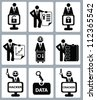 Key,hacker concept,Human resource concept,icon set,Vector - stock photo