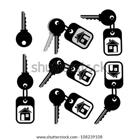 Key icon on white background