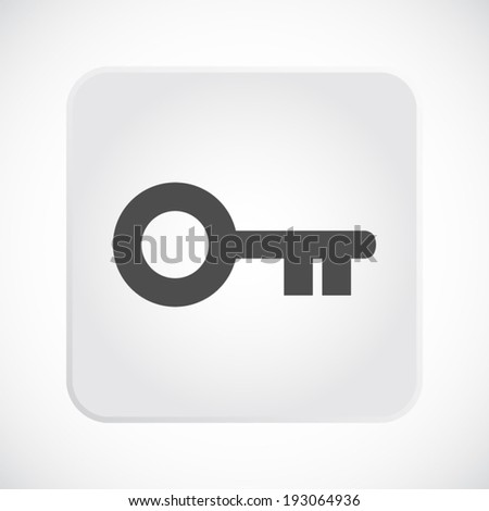 Key icon. Vector illustration - stock vector