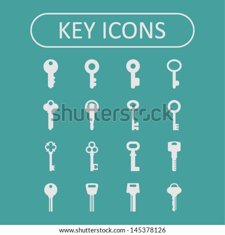 Key icons - stock vector