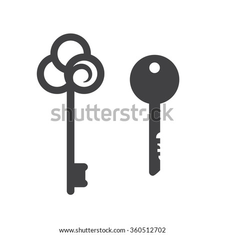 Key icons. Secret and security, vector illustration