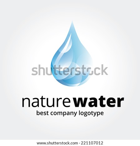 Key ideas is fresh, drinks, water and ocean, eco, nature. Concept for corporate identity and branding - stock vector